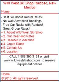 Ruidoso Ski Rentals